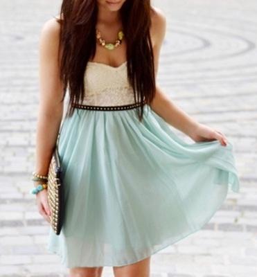 8e3c379d9a40 Mint šaty s krajkovým vrškem a sukní ze šifonu Motel Rocks - Bazar ...