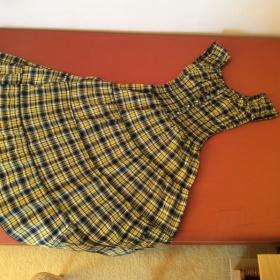 Šaty kostkované dlouhé neznačková - foto č. 1