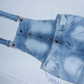 Jeans sukýnka s odepínatelným laclem Gourd - foto č. 1