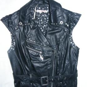 Zdobená koženková vestička Rock, metal, punk Tally Weijl - foto č. 1
