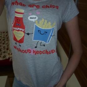 Šedé tričko Denim co. - foto č. 1