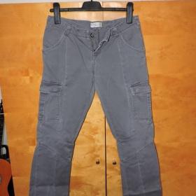 Šedé kalhoty s kapsami Calliope - foto č. 1
