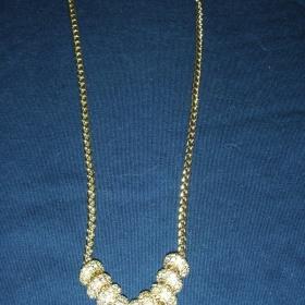 Zlat� n�hrdeln�k s kam�nky Opia - foto �. 1
