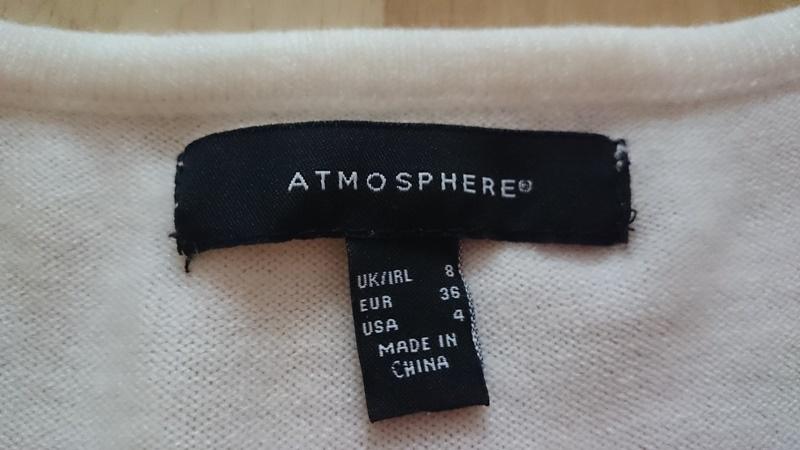 Dámský bílý svetr Atmosphere - Bazar Omlazení.cz a4251fc7df