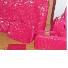 Růžový set kabelek 6ks neznačková - foto č. 1