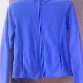 Modr� zimn� fleecov� mikina Marks and Spencer - foto �. 1