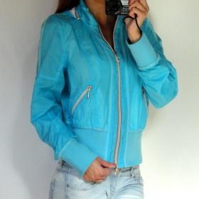 Sv�tle modr� tyrkysov� sportovn� bunda s kapuc� River Island - foto �. 1