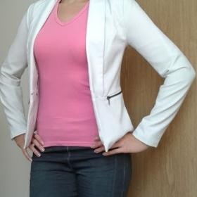 Růžové basic tričko s krátkým rukávem neznačkové - foto č. 1