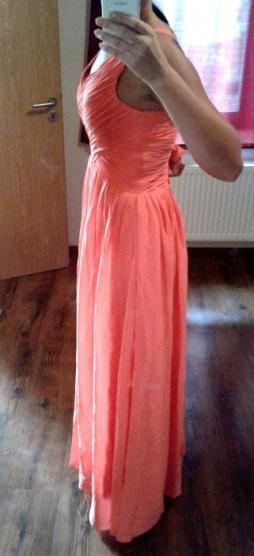 61918406daa Lososové dlouhé společenské šaty Grace Karin - Bazar Omlazení.cz