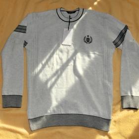 Pánský šedý svetr svetřík elegantní golf Reyn