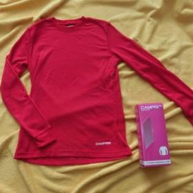 Růžové termo tričko s dlouhým ruk Campri