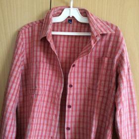 Košile červená kostka neznačková - foto č. 1