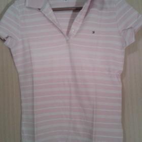 Růžovo - bílé tričko Tommy Hilfiger - foto č. 1