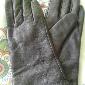 Černé koženkové rukavice neznačková - foto č. 1