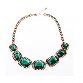 Smaragdový náhrdelník neznačková - foto č. 1