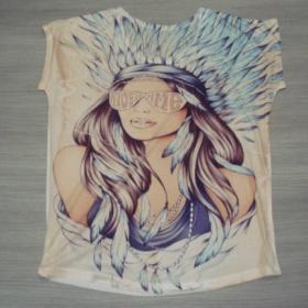 D�msk�, ne�ehliv� tri�ko s potiskem - Indi�nka nezna�kov� - foto �. 1