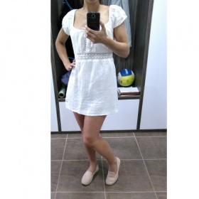 Letní bílé hippie boho bohoo festivalové lehké bavlněné šaty minišaty coachella neznačková