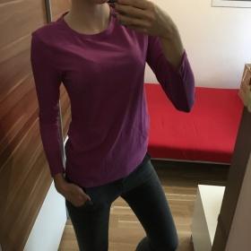 Fialové tričko Victoria's Secret