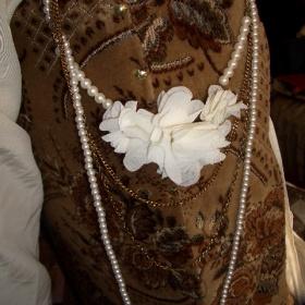 Náhrdelník perly s květy - foto č. 1