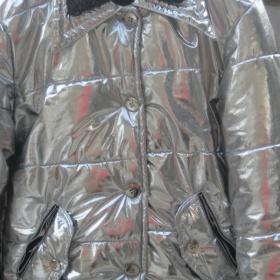 Leskle stříbrná zimní bunda - foto č. 1