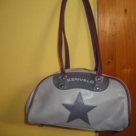 Šedo- fialová kabelka Kenvelo - foto č. 1
