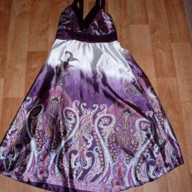 Fialové šaty - foto č. 1