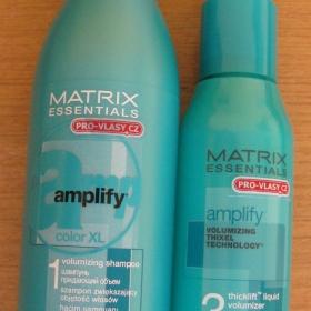 Matrix Amplify - �ampon color XL + pe�uj�c� fluid pro hustotu a objem vlas� - foto �. 1