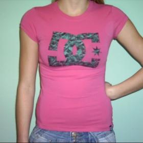 Růžové triko DC - foto č. 1