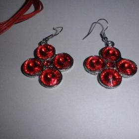 Červená souprava (náhrdelník + náušnice) - foto č. 1