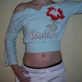Modrozelené hiphop tričko na sport, tanec i běžné nošení,vrstvení BSA - foto č. 1