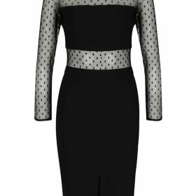 Černé šaty s puntíky - jaké doplňky?