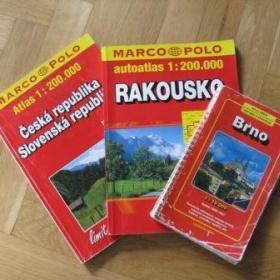 Autoatlas ČR, Rakouska a mapa Brna