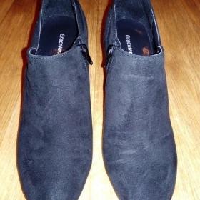Semišové kotníkové boty Graceland