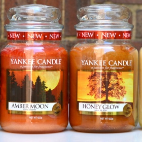 Yankee Candle Honey Glow a Amber Moon Yankee Candle