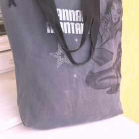 Černá riflová taška na rameno Hannah Montana