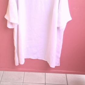 Bílá tunika s flitry XL H@M - foto č. 1