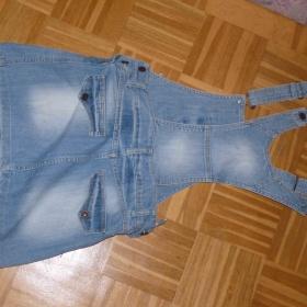 Riflové šaty s kšandy - foto č. 1