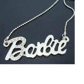 """Postříbřený řetízek """"Barbie"""" - foto č. 1"""