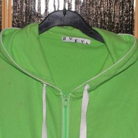 Zelená mikina značky Roxy - foto č. 1