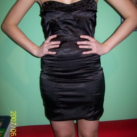 Černé šaty, japan styl, S/M - foto č. 1