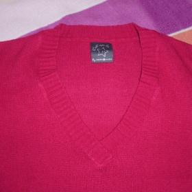 Růžový svetřík s krátkými a širokými rukávky - foto č. 1