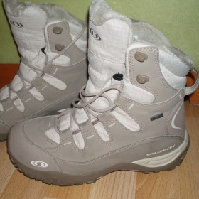 Zimní boty Salomon světlehnědé - foto č. 1