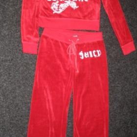 Tepláková souprava červená-samet juicy couture - foto č. 1