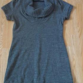 Šedý svetřík s krátkým rukávem neznámé značky - foto č. 1