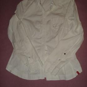 Bílá košile s dlouhým rukávem Esprit - foto č. 1